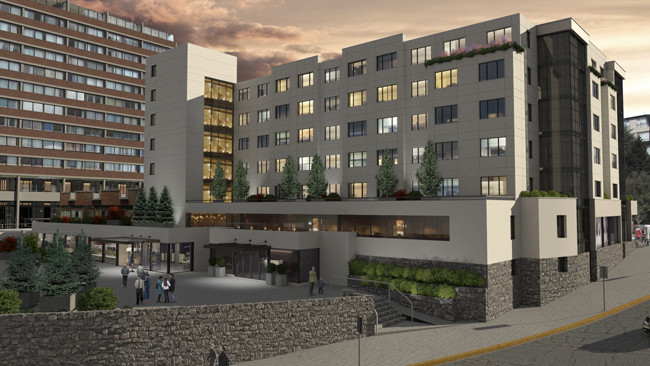 A rendering of the new Hampton by Hilton Bariloche opening in 2018.