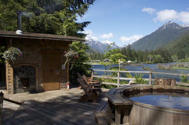 TheClayoquot Wilderness Resort on Vancouver Island, British Columbia.
