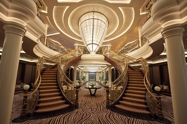 Regent Seven Seas Explorer's atrium.
