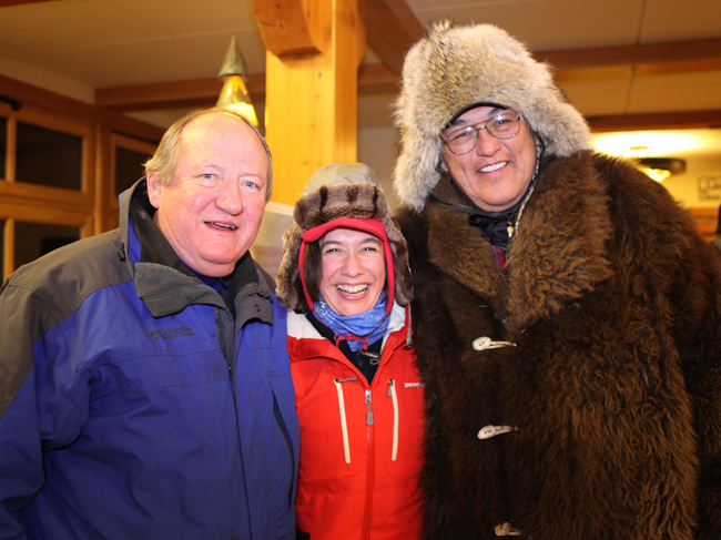 Jennifer with Dayton Duncan and Gerard Baker. Jennifer works with filmmaker Ken Burns, of whom Dayton is a longtime collaborator. Baker is a Mandan-Hidatsa Indian whose pray chant gave Jennifer goosebumps during a trip in Yellowstone.