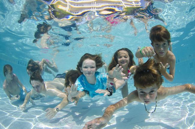 Fun time at the pool.