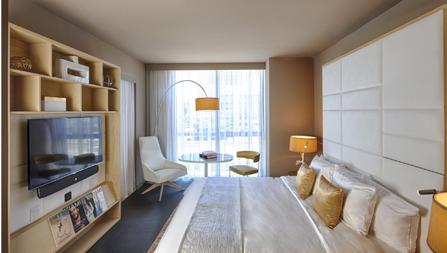 The Aura Room at the new ME by Melia in downtown Miami. (Photo credit: Melia Hotels International).