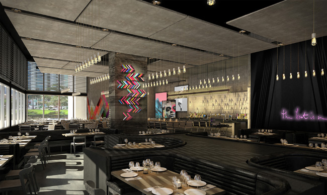 A rendering of theSTK Miami. restaurant at the ME by Melia in downtown Miami. (Photo credit: Melia Hotels International)