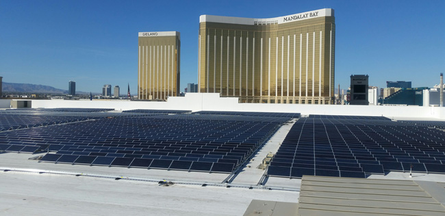 MGM Resorts International and NRG Energy have announced the completed expansion of the nation's largest rooftop solar array.