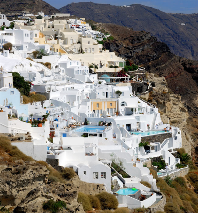 Pleasant Holidays' summer and fallsavingsatMystique, A Luxury Collection Hotel in Santorini, Greece includesup to 25 percent in savings. (Photo credit: EManuel Zublena)