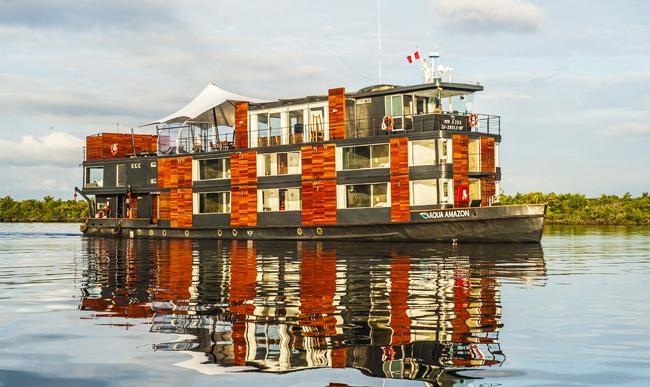 Aqua Expeditions'Aqua Amazon sinks after on board explosion.