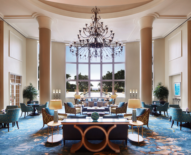 The lobby at The Ritz-Carlton Key Biscayne, Miami.
