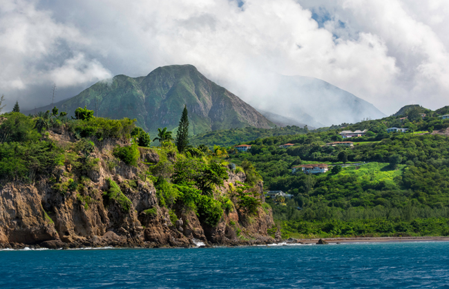 Views of the Soufriere Hills volcano. (Photo courtesy of Montserrat Tourism Division)