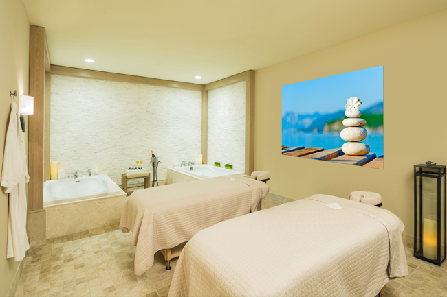 Couples' treatment room at St. Somewhere Spa. (Photo courtesy of Margaritaville Hollywood Beach Resort.)