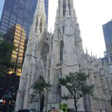 Taking in the sights in NYC, including the stunning St. Patrick's Cathedral.