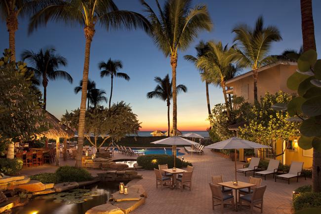 Sunset atLaPlaya Beach & Golf Resort in Naples, Florida.