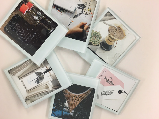 Tribute Portfolio's#independentmoments package includes a Polaroid-style coaster set with #independentmoments from Tribute Portfolio properties for guests to take home.