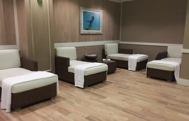 The women's lounge at St. Somewhere Spa.