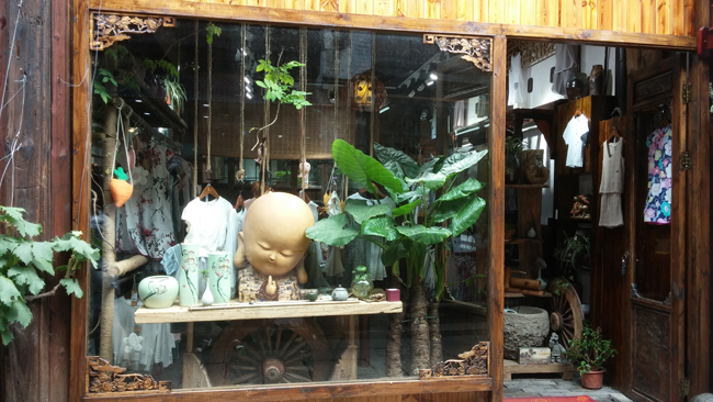 One of the many shops in Wuzhen, included this hippie-chic clothing store.