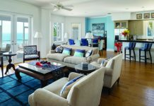 "The Ocean Blue ""cottage"" at The Abaco Club on Winding Bay on Great Abaco Island."