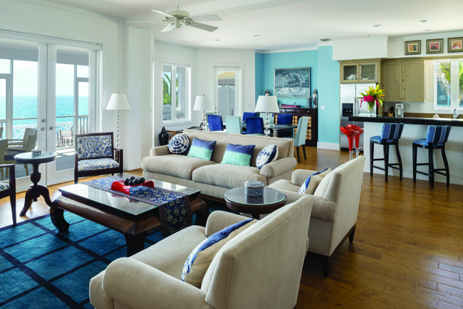 """The Ocean Blue """"cottage"""" at The Abaco Club on Winding Bay on Great Abaco Island."""