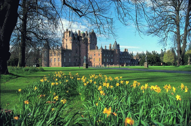 Glamis Castle in Angus, Scotland is a touring suggestion for CIE Tours' Scotland Chauffeur Drive programs. (Photo credit: Paul Tomkins/VisitScotland/Scottish Viewpoint)