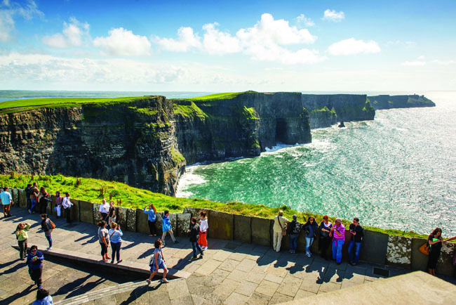 The Cliffs of Moher are one of the stops on CIE Tours' Best of Ireland South itinerary.