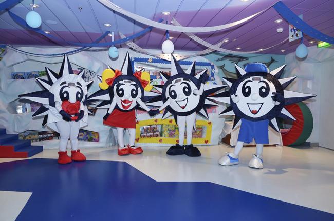 The Doremi family, from left to right: Dorebaby, Mila, Doremi and Dorebro
