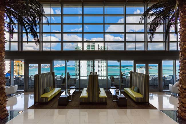 The Bar at Level 25 at the Conrad Miami.
