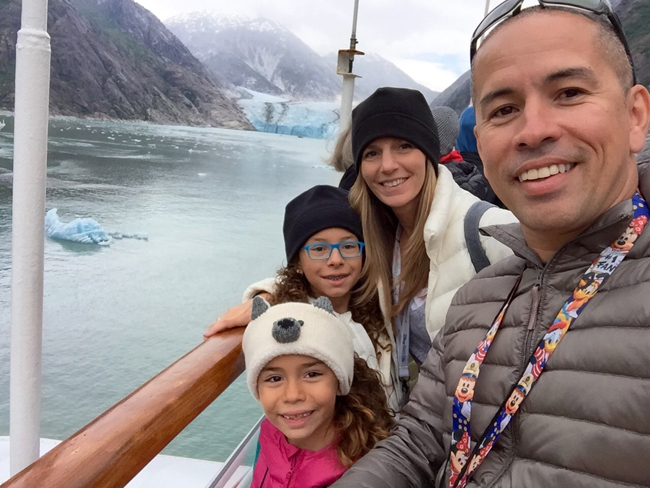 Melissa da Silva and her family on a cruise.