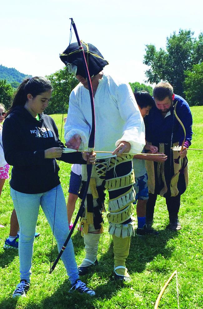 Guides in period attire lead many of the activities, including at Devin Castle in Slovakia. (Paloma Villaverde de Rico)