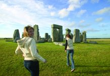 Stonehenge in Wiltshire County.