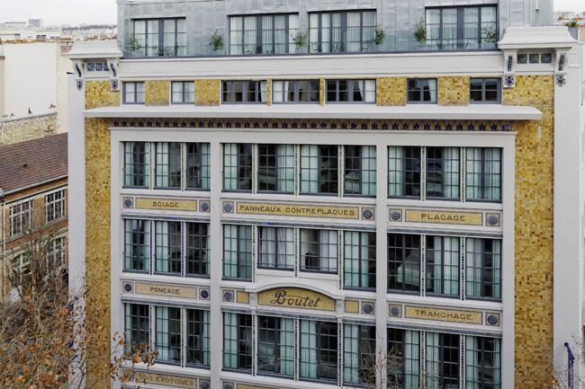 The exterior ofHotel Paris Bastille Boutet.