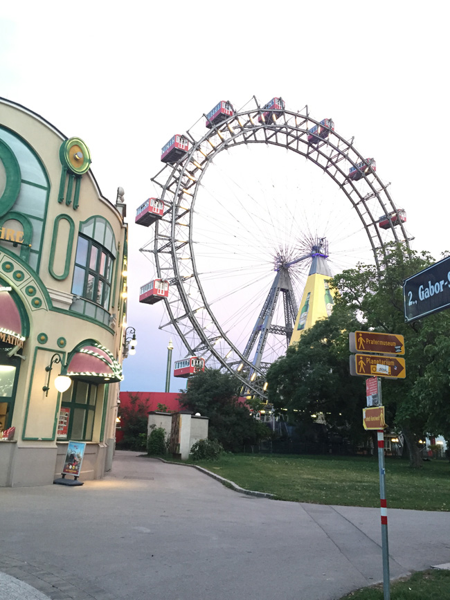 The Prater amusement park is home to Vienna's famed Ferris wheel.