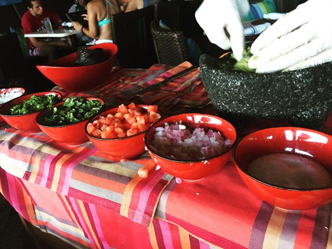 Guacamole de Mesa made tableside at Cantina Beach.
