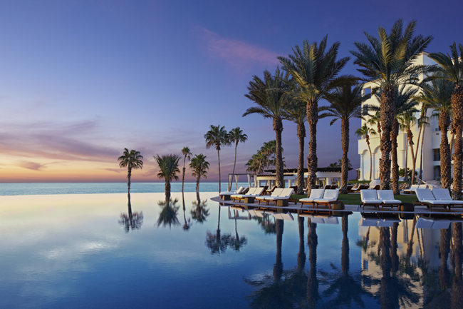 The infinity pool at the Hilton Los Cabos Beach and Golf Resort in Mexico.