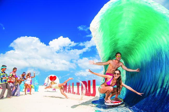 As part of its All Playa Experience, Sandos Playacar Beach Resort showcases world-famous beaches, including Malibu.