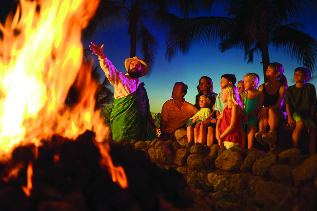 Storytelling at Aulani, A Disney Resort & Spa in Oahu.