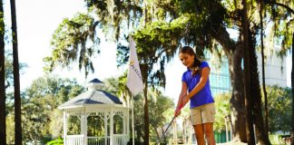 Kids can tee off at Sawgrass Marriott Golf Resort & Spa in St. Augustine.
