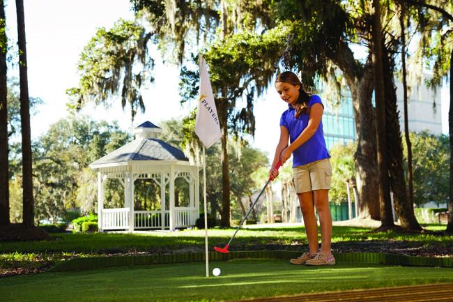 Kids can tee off at Sawgrass Marriott Golf Resort & Spa in St. Augustine.