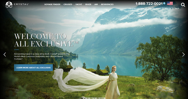 Crystal Cruises' new website features an Innovative Compare Feature, where users can compareup to three voyages on any Crystal experience.