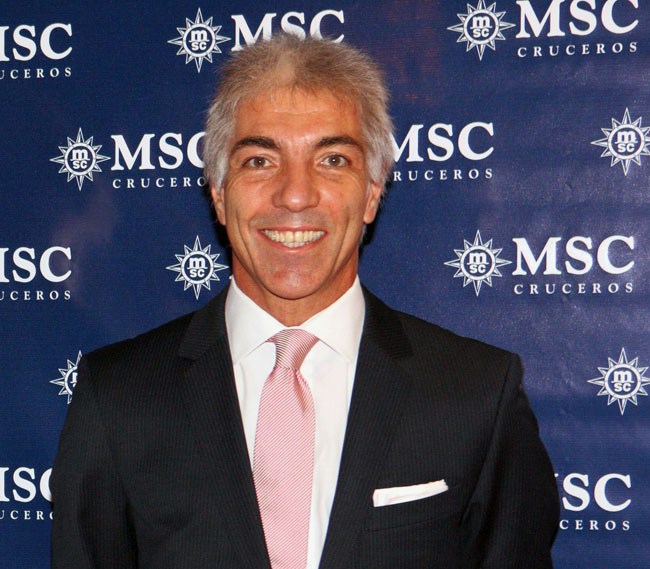 Roberto Fusaro has been appointed the president of MSC Cruises North America.