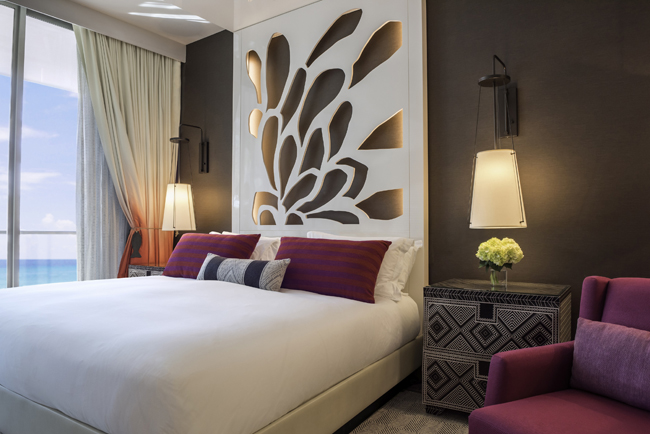 A guestroom at the new Kimpton Seafire Resort + Spa in the Cayman Islands. (Photo credit: Kimpton Seafire Resort)