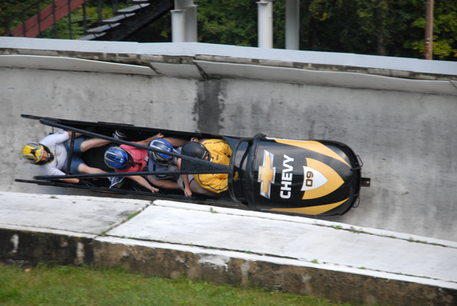 In Lake Placid, New York, guests can bobsled at Whiteface Lodge's Olympic facilities. (Photo credit: Olympic Regional Development Authority)