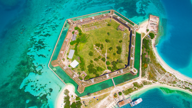 "The Gates Hotel Key West's ""Gate""way to the Dry Tortugas package offers guests the chance to snorkel off the white sand beaches at The Dry Tortugas National Park."