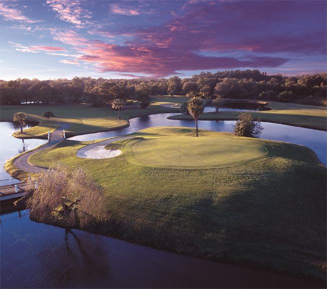 Golf course views at Innisbrooke Golf Resort.