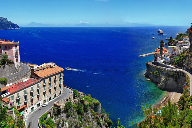 BellaVista Tours' The Best of Sorrento itnerary features visits to Praiano, the fjord of Furore, Conca dei Marini, the Emerald Grotto, Amalfi and Ravello.