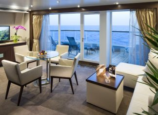 Seabourn offers Spa Suite accommodations.