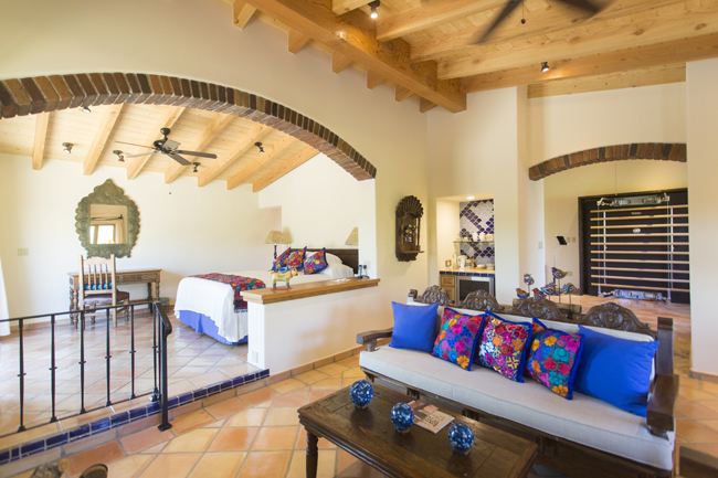 Rancho La Puerta's new Villas Cielo (or Heavenly Villas) feature a living room that can be transformed into a residential gym or business office.