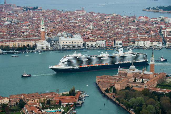 The Koningsdam in Venice.