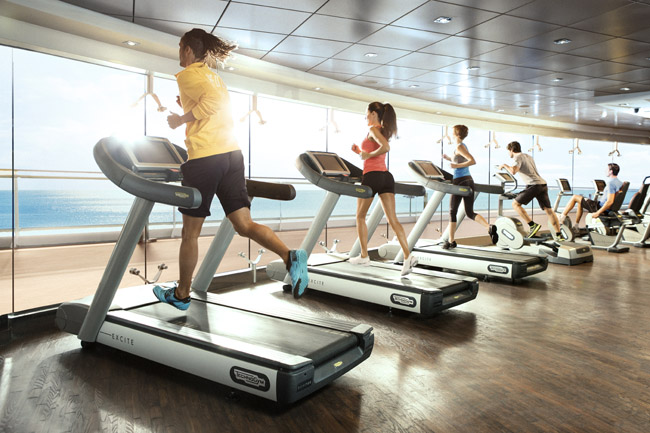 Fitness club on board MSC.