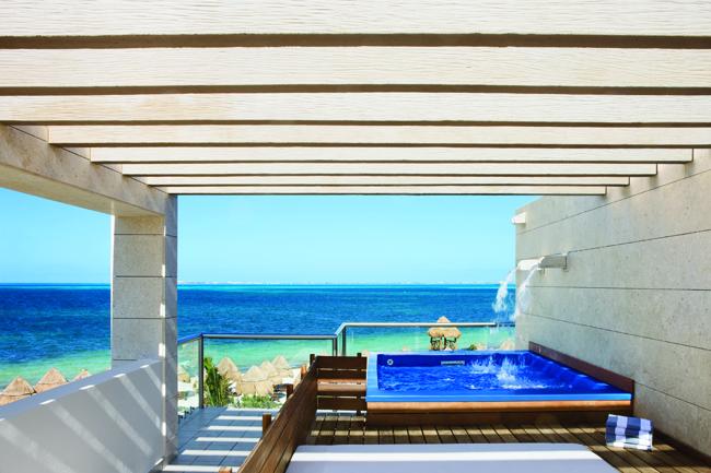 Two-story beachfront Casita accommodations.