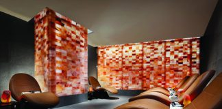 The chicly designed The Spa at Aria.