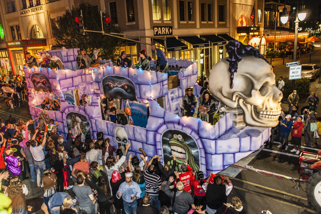 Krewe of Boo, the official Halloween parade of New Orleans, takes place on Oct. 22 this year. (Photo credit: Richard Nowitz)
