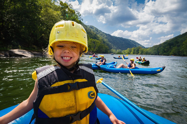 Families can book ACE Adventure Resort's Upper New River rafting package in West Virginia. (Photo credit: Ace Adventure Resort)